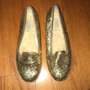 Gold Sequin Uggs Flats